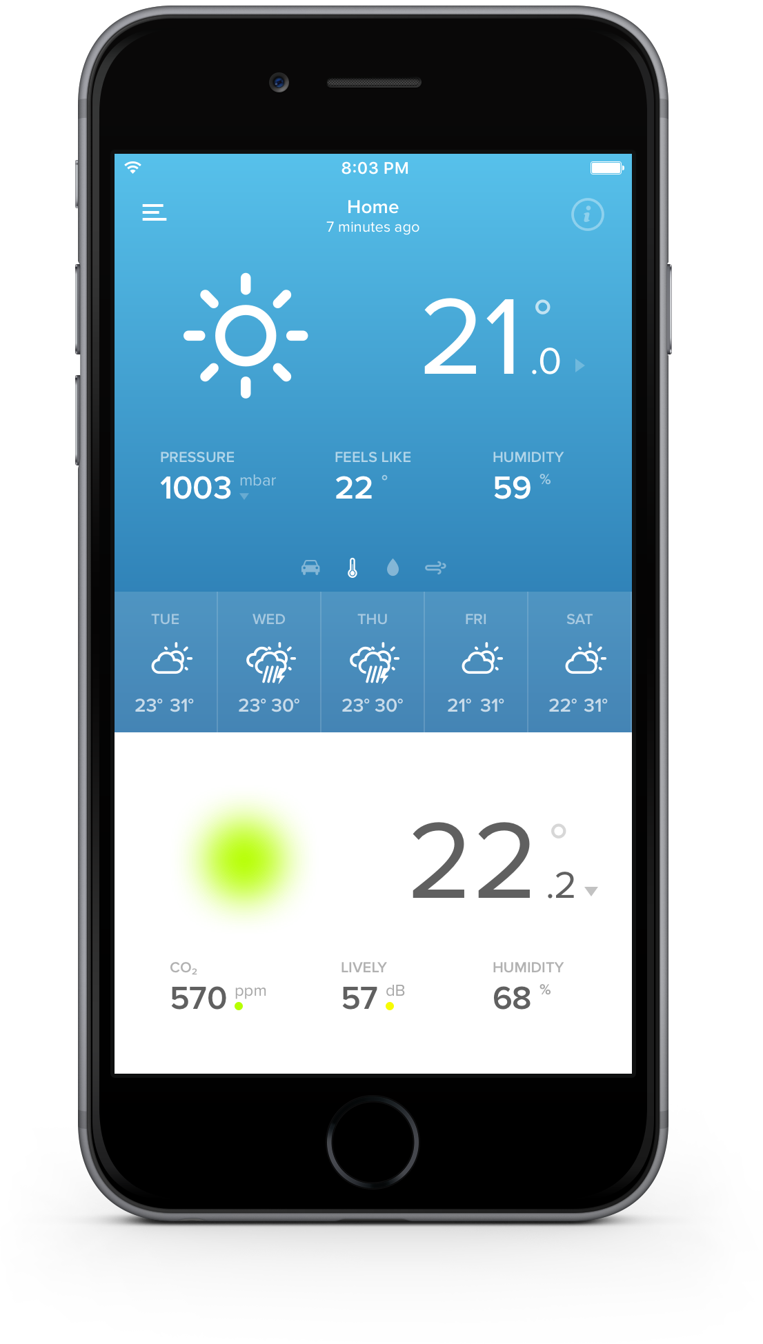 iphone weather station